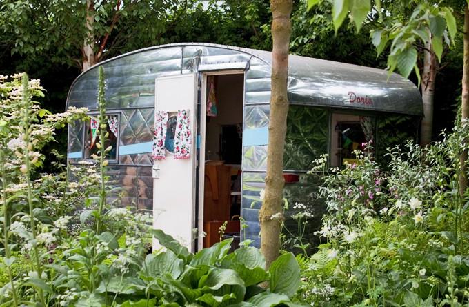 Chelsea Flower Show caravan
