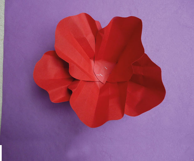 how to make a 3d poppy out of paper