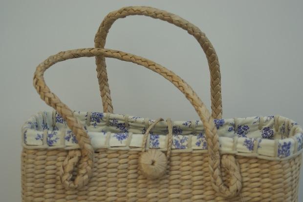 LAURA ASHLEY STRAW BAG