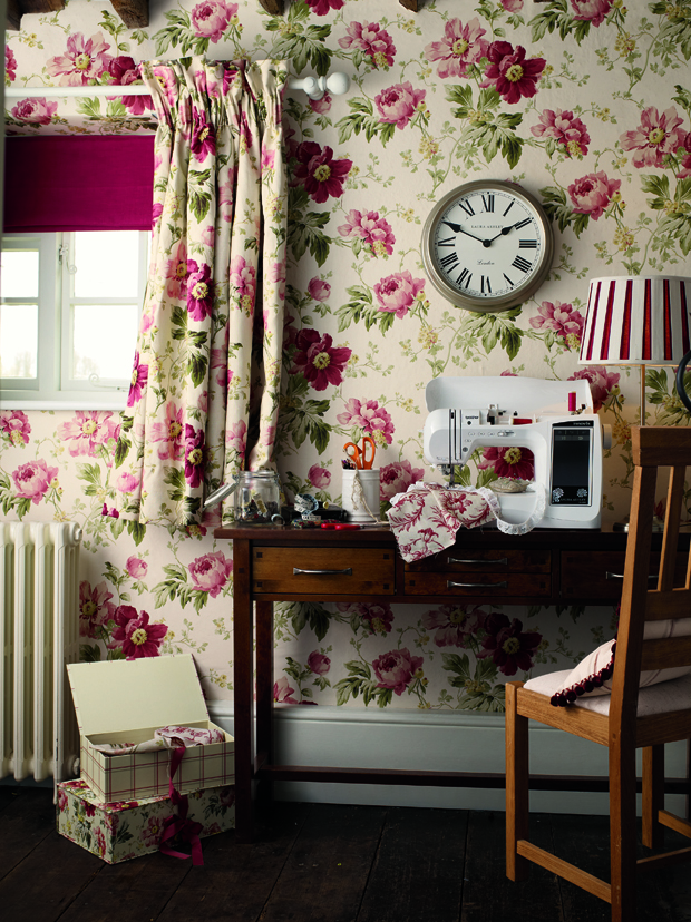 peony print amethyst cranberry laura ashley blog. Black Bedroom Furniture Sets. Home Design Ideas