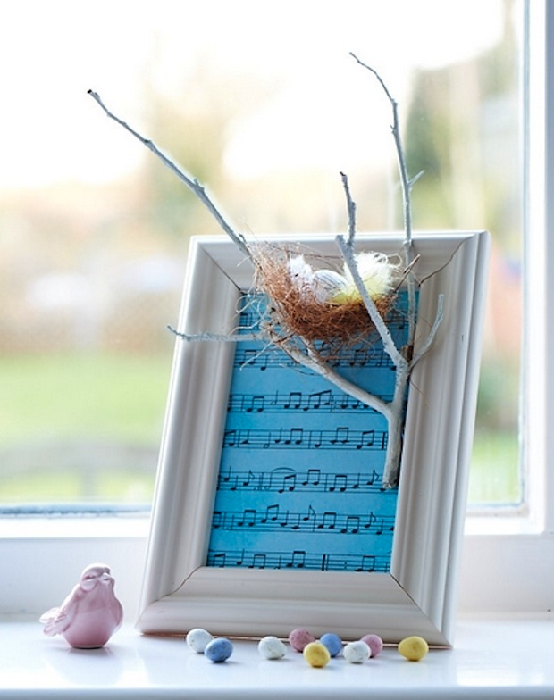 Frame on a windowsill