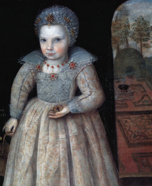 Unknown Artist, Lettice Newdigate aged two, 1606. Arbury Hall, Warwickshire. Courtesy of Private Collection