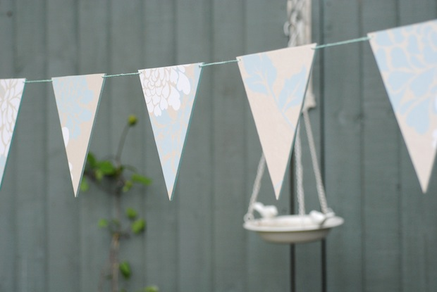 Laura Ashley wallpaper bunting