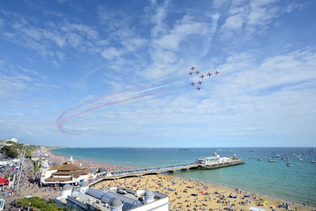 Red Arrows at the Bournemouth Air Festival