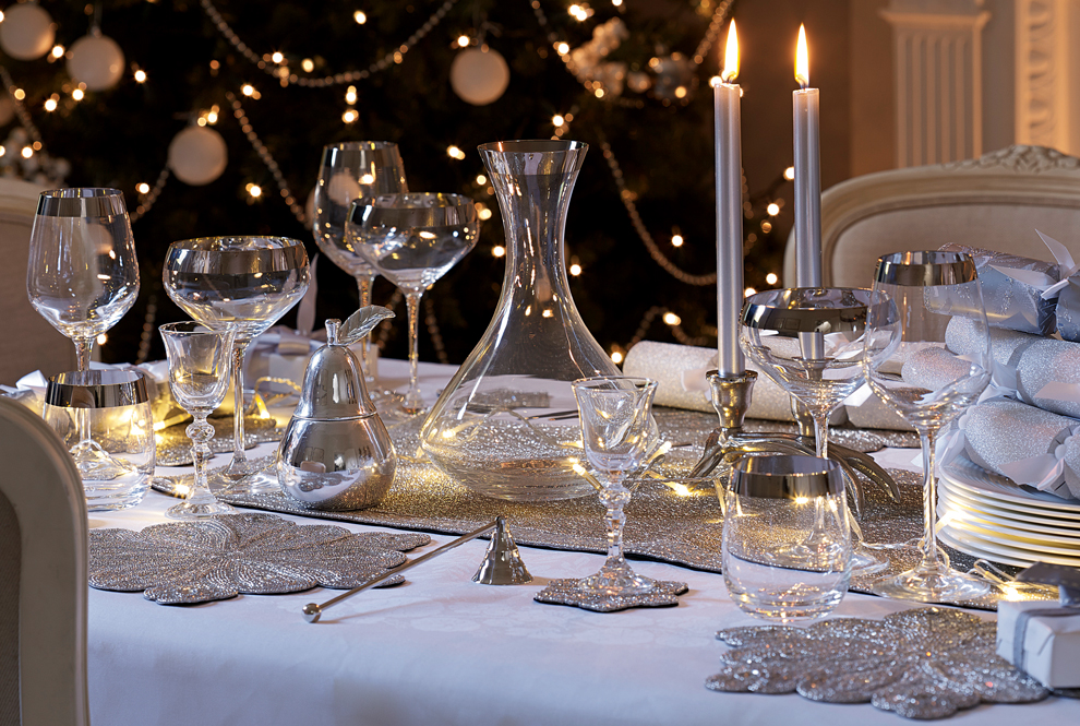 3 / Set the scene for Christmas and decorate your table with a festive  feel. Adorn your table with softly lit candles for a warm inviting glow, ... - Christmas Dinner Party Guide - The Laura Ashley Guide