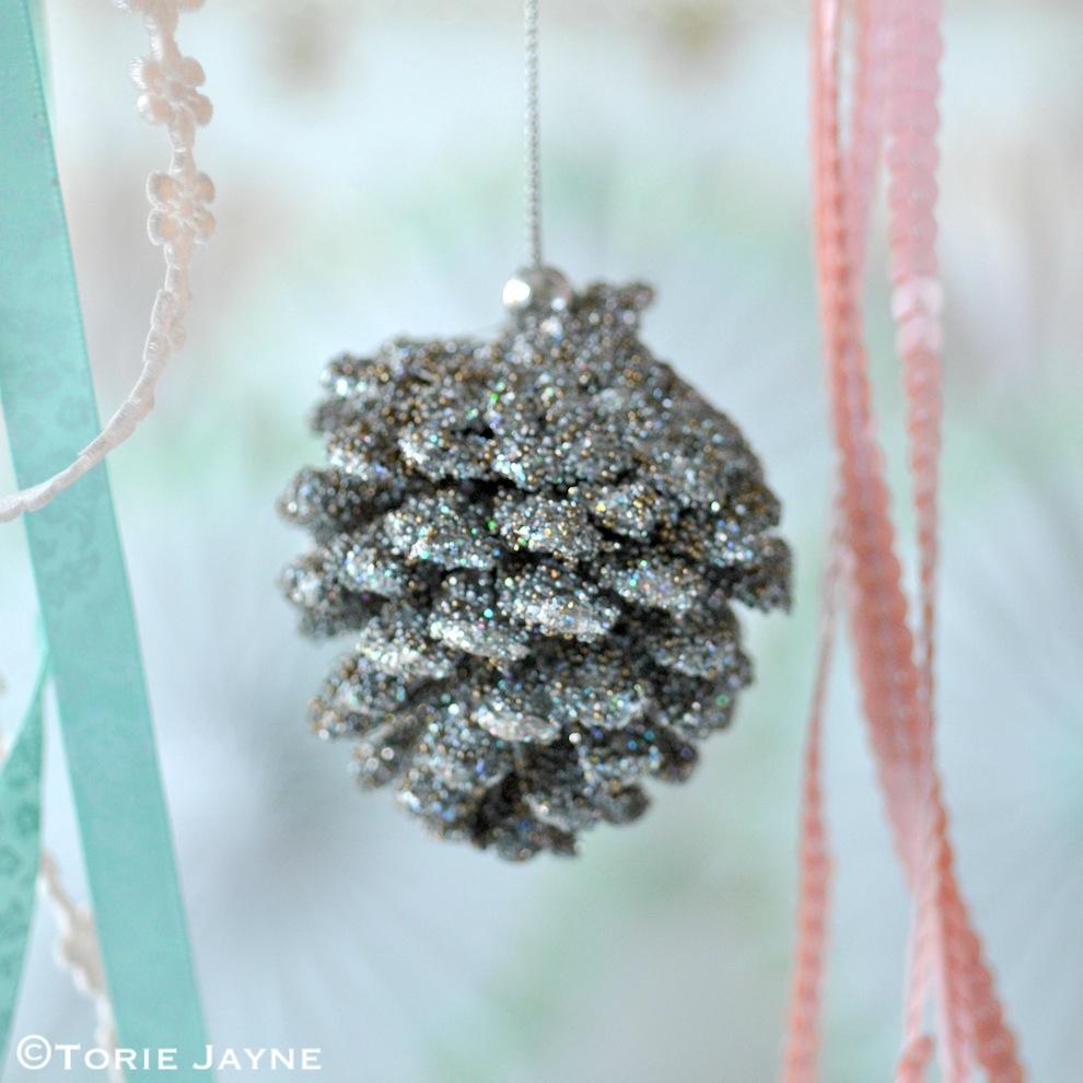 Laura Ashley pinecone decorations