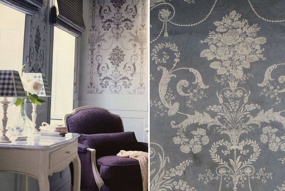 Laura Ashley Josette Wallpaper Living Room