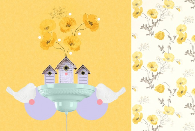 SPRING COLLAGED WITH CARDBOARD CITIES 