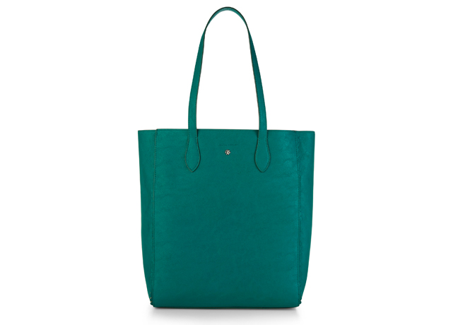 Scallop Trim Unlined Shopper Bag