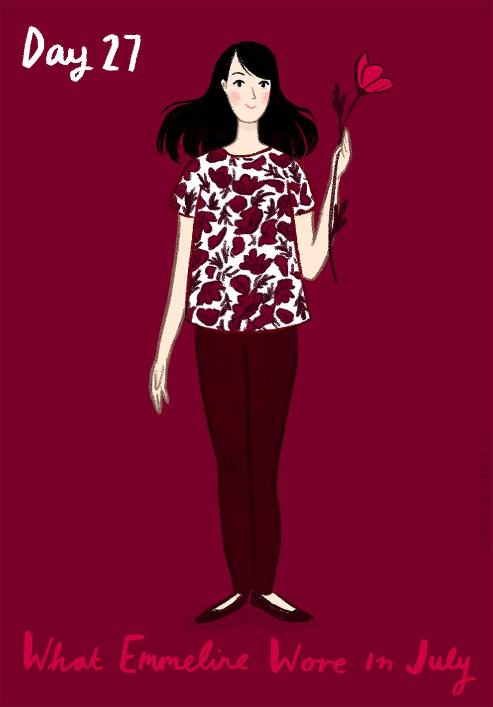Emmeline Pidgen - Illustrated What I Wore - Day 27 - Laura Ashley