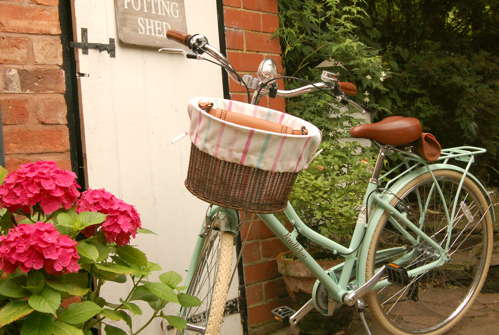 Victoria's Cottage Bicycle Basket Liners