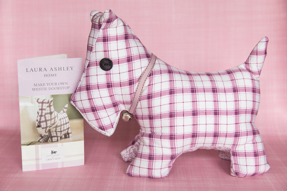 Laura Ashley diy dog door stop