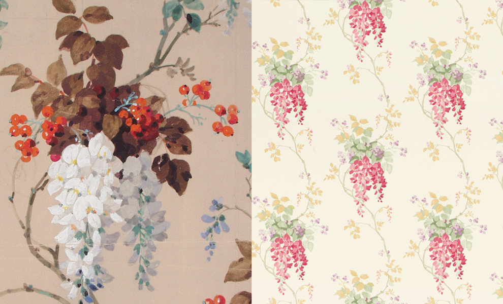 Laura Ashley Wisteria Print Ambleside