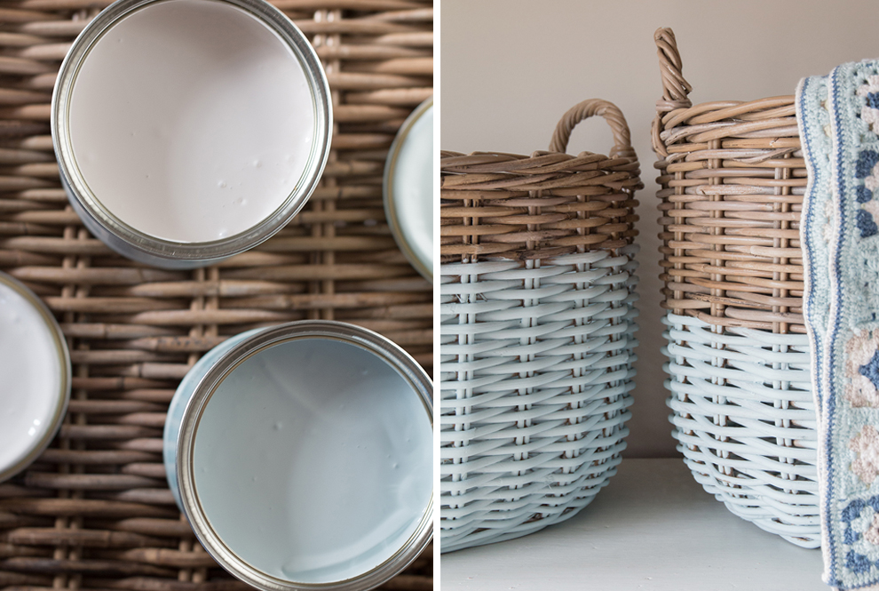 We Made This Home Upcycling Baskets Paint