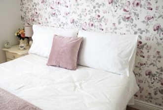 Dainty Dress Diaries Guest Bedroom Bedding Wallpaper Home Accessories