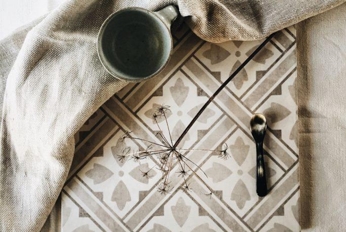Tea With Ruby British Ceramic Tile