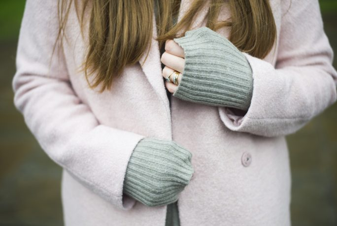 Bunty Living Pink Coat Grey Boots