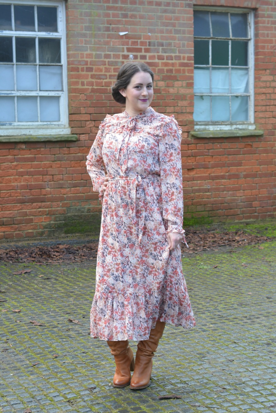 Laura Ashley Floral Ruffle Dress 4