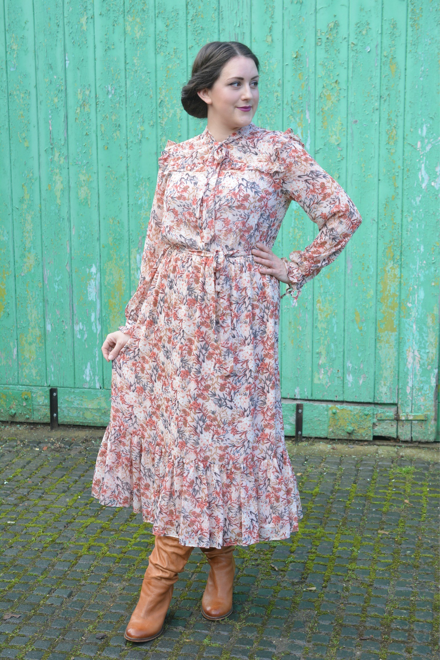 Laura Ashley Floral Ruffle Dress
