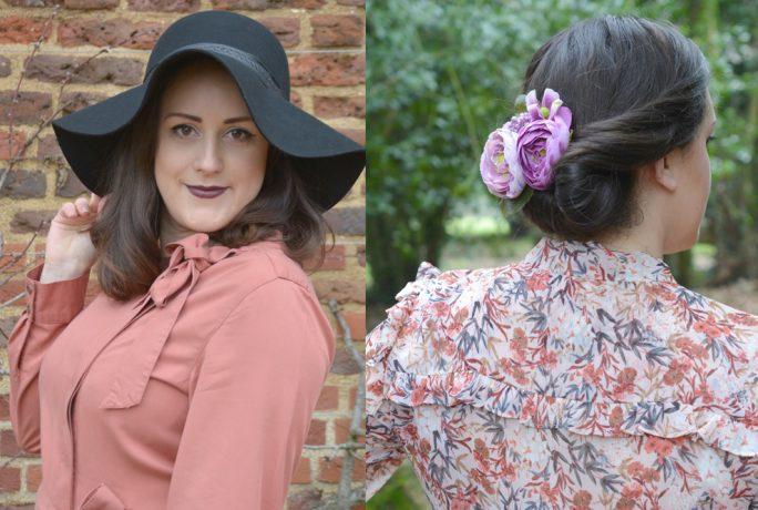 Vintage Frills Pink And Floral Dress