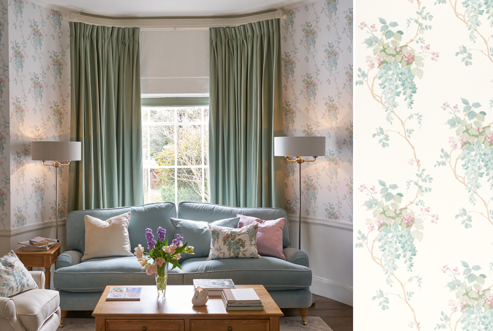 Laura Ashley Wisteria Print