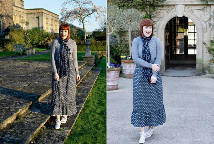 The LIFB Issue Homespun Cardigan Scarf Skirt