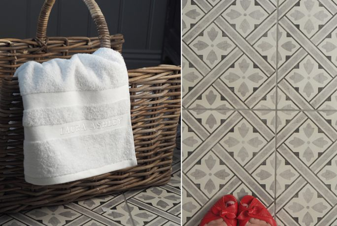 Getting Stuff Done In Heels British Ceramic Tile Bathroom Makeover Laura Ashley Home Accessories