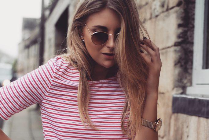 Love Style Mindfulness Breton Top White Bag