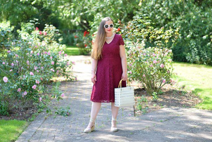 Jacquard Flower Occasionwear Ascot Dress
