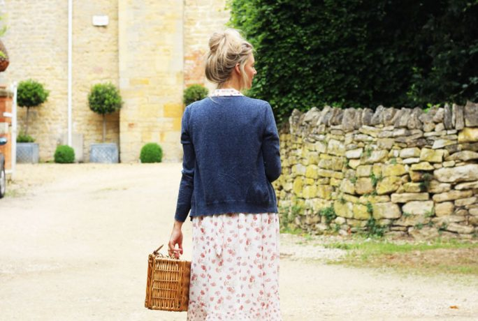 Within These Walls Floral Dress Navy Cardigan