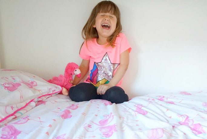 Running In Lavender Flamingo Girls Bedroom Makeover