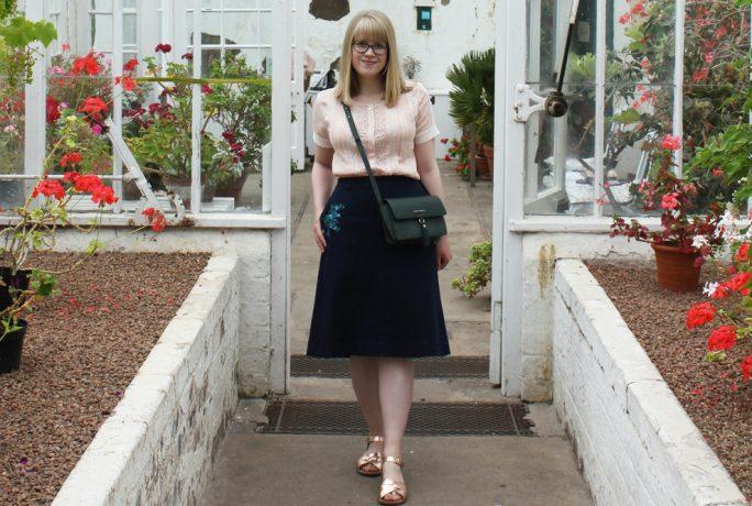 Everything Looks Rosie Blouse Bag Skirt Fashion