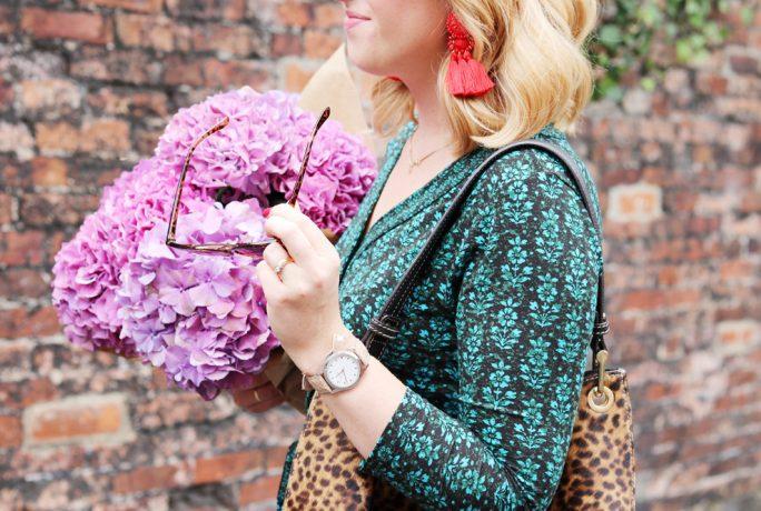 Brick Dust Glitter Dress Woodblock Collection