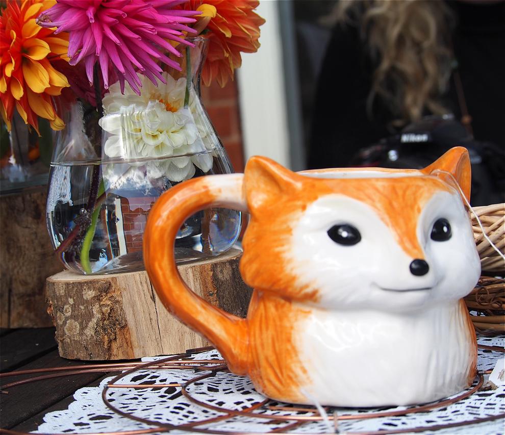 My Model Mummy Autumn Crafting Scarf Fox Mug