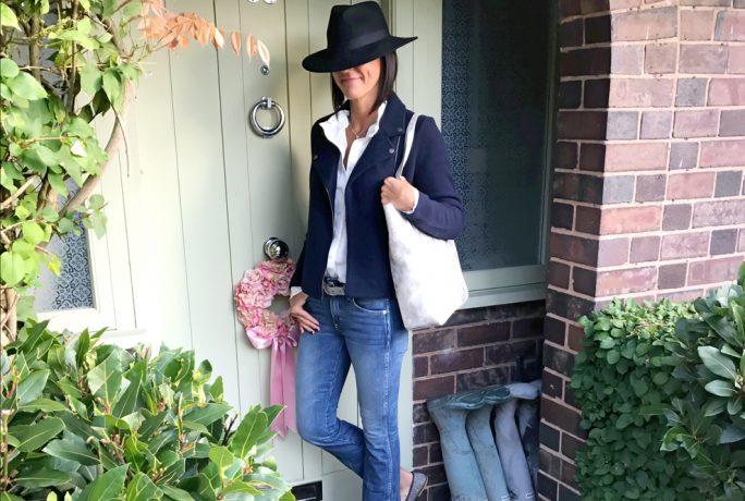 My Midlife Fashion Biker Jacket Blouse Bag