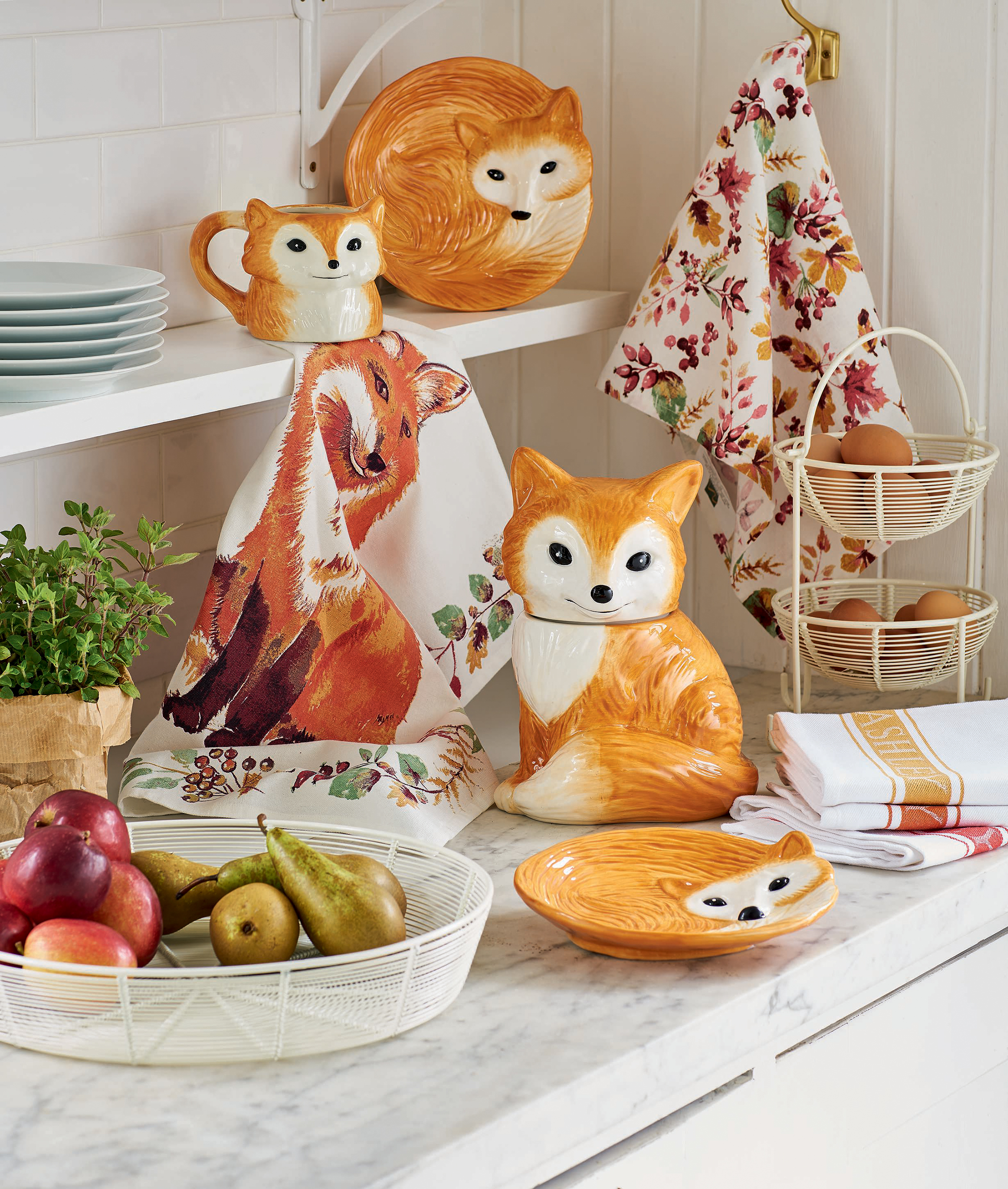 Autumn homeware - Fox kitchenware range