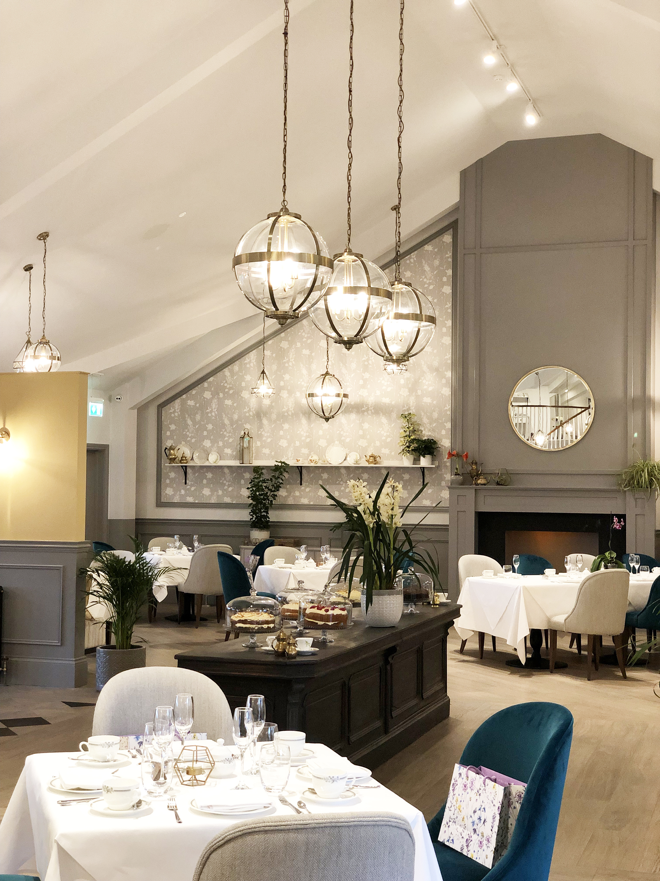 INSIDE THE LAURA ASHLEY TEA ROOM AT HIGHBULLEN HOTEL
