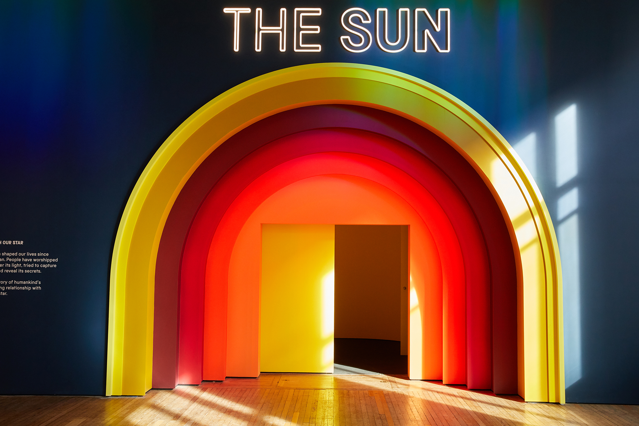 Entrance to The Sun Living With Our Star © Jody Kingzett, courtesy of the Science Museum Group