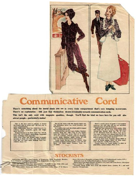 In the Archives: Communicative Cord | Laura Ashley Blog