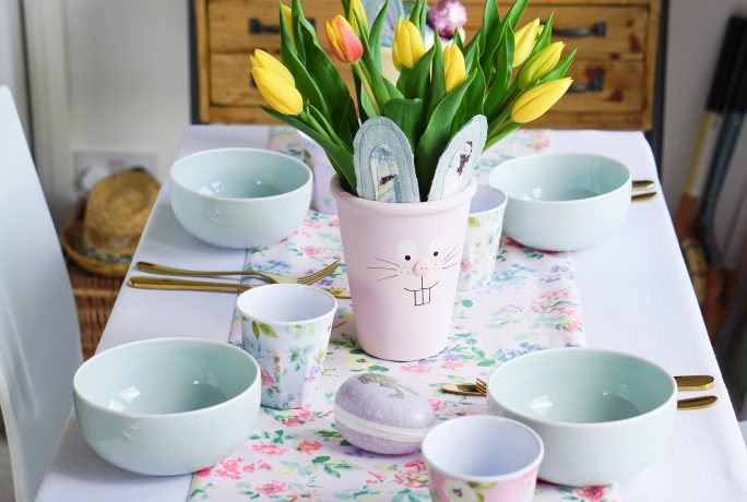 Family Fun: Making your own Pastel Bunny Pots