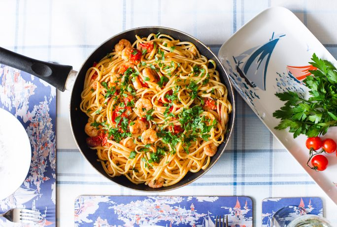 Prawn & Cherry Tomatoes Linguine