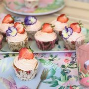 Delicious Strawberry & Champagne Cupcakes