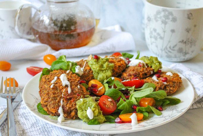 Cauliflower and Sun-Dried Tomato Breakfast Fritters