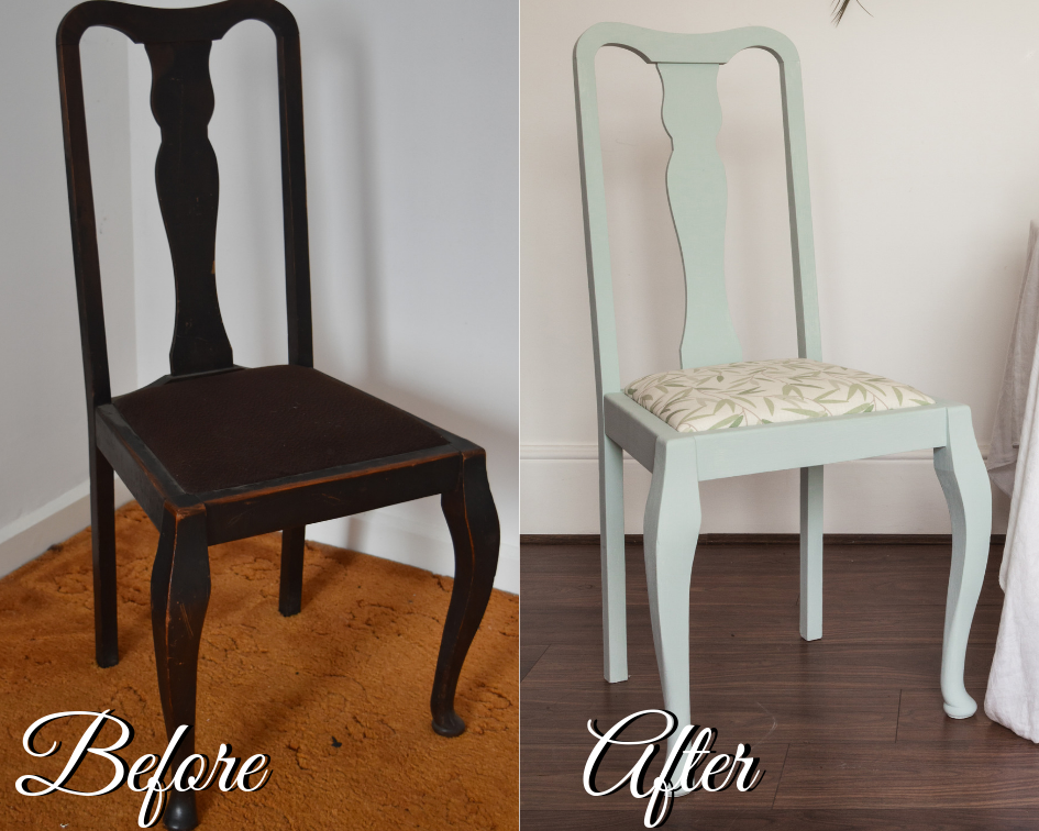 DIY Drop in Seat Chair Makeover