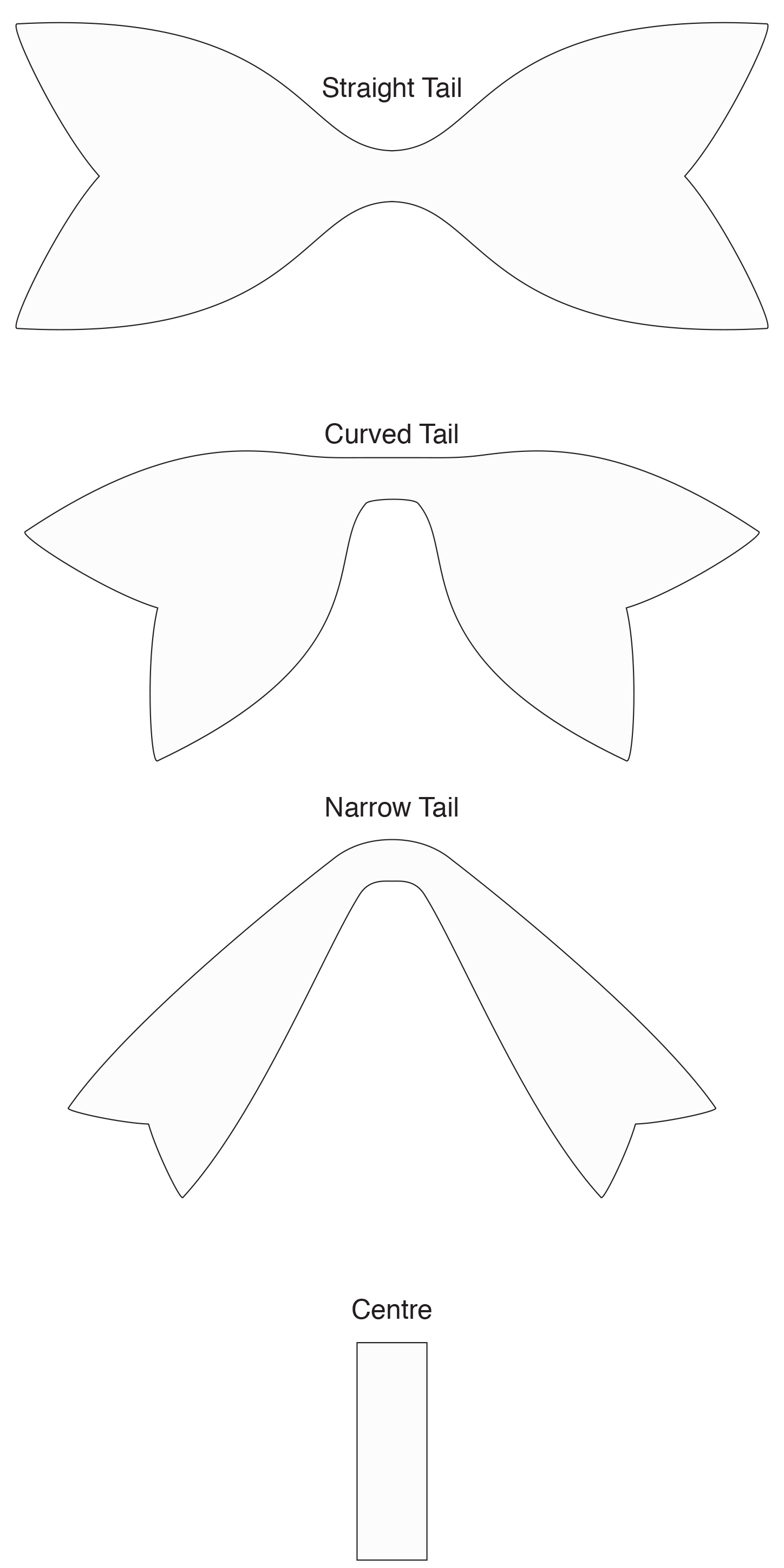 Laura Ashley Bow Templates