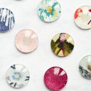 DIY fabric tile fridge magnets