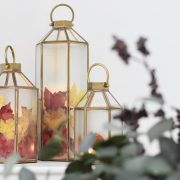 How to create an autumn leaf lantern