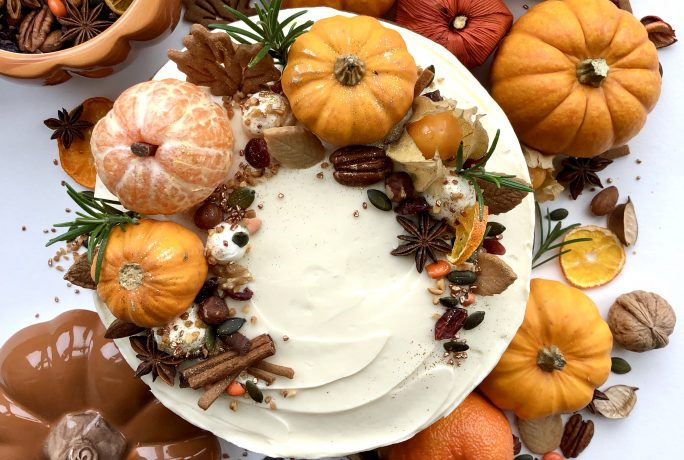 Delicious Halloween Pumpkin Spice Cake