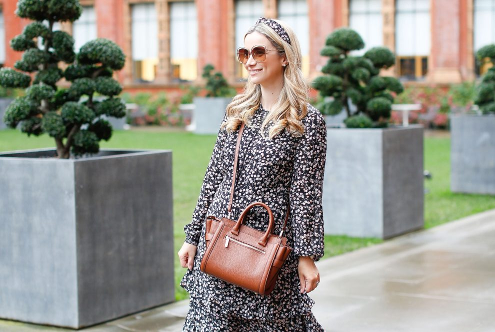 How to style a maxi dress in the cooler weather