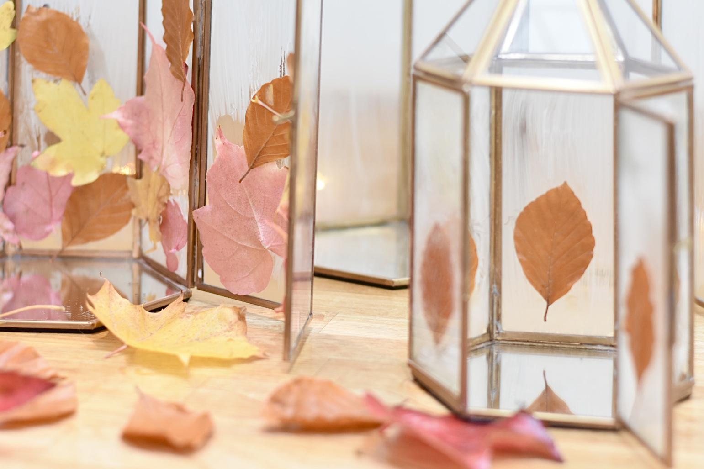 How to create an autumn leaf lantern